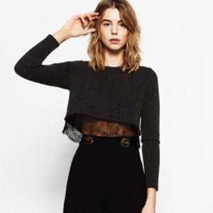 Zara lace sweater